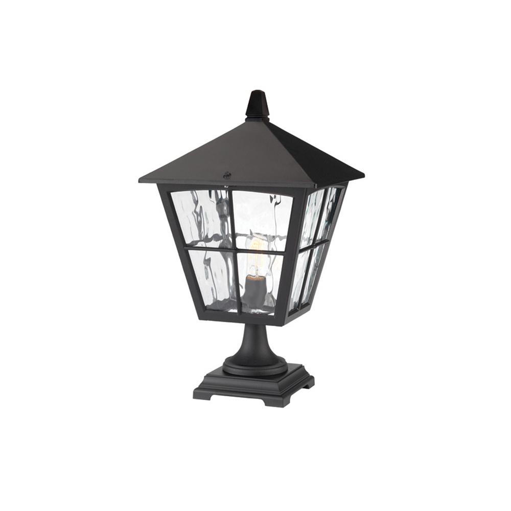 Bedfords Medium Pedestal Lantern In Black: Elstead Lighting Edinburgh BL33 Black Pedestal Lantern