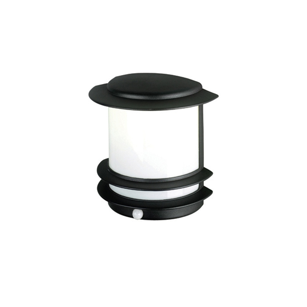 Low Energy Exterior Wall Lights : Elstead Lighting Azure Low Energy 10 Black Outdoor Wall Light PIR