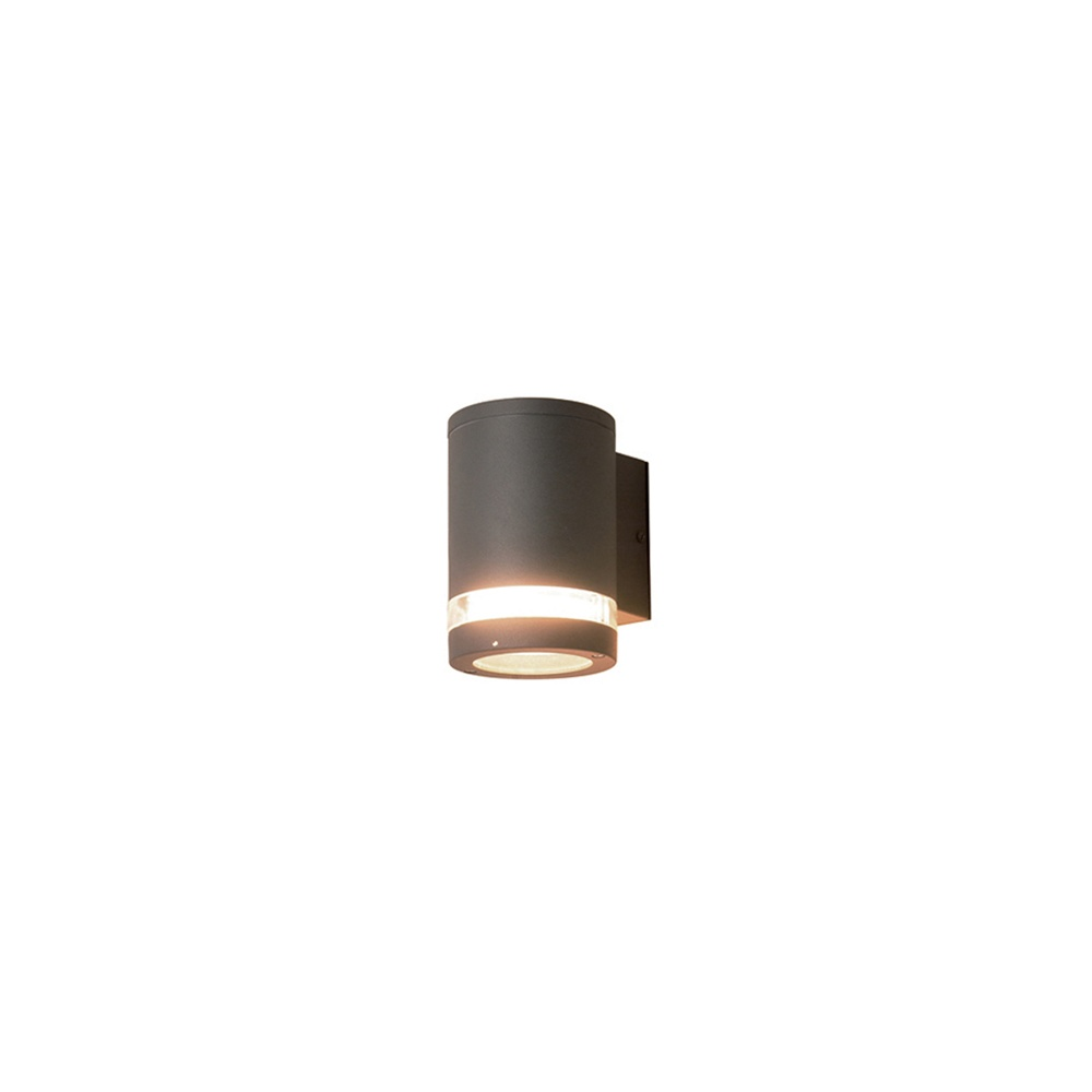 Low Energy Exterior Wall Lights : Elstead Lighting Azure Low Energy 3 Dark Grey Outdoor Wall Light