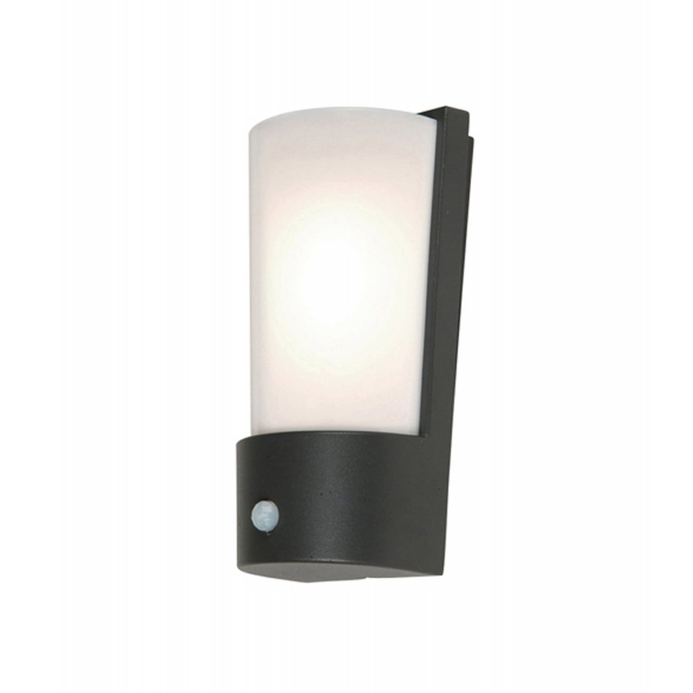 Russell Lowe Wall Lights : Elstead Lighting Azure Low Energy 7 Dark Grey Outdoor Wall Light PIR