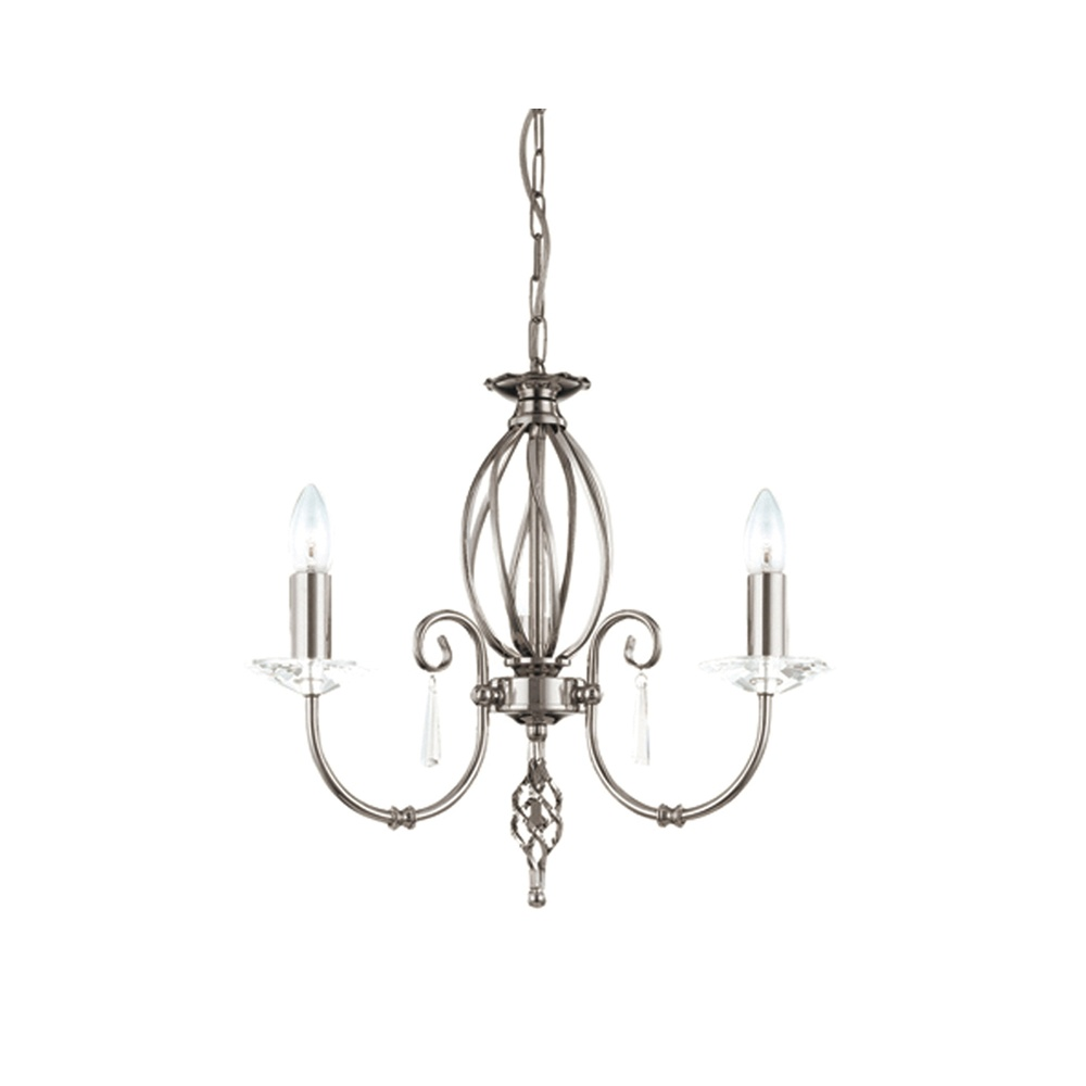 elstead lighting aegean ag3 aged brass 3lt chandelier