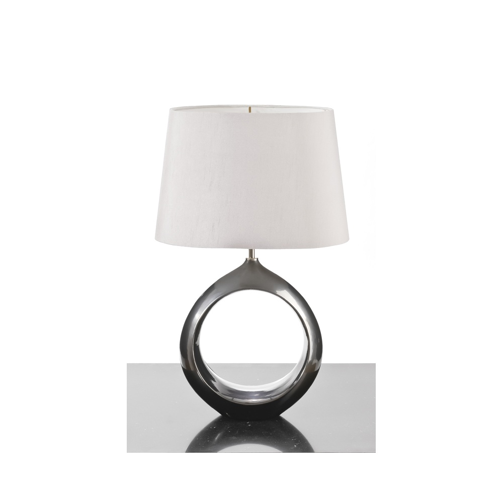 Delightful Elstead Lighting Oscar Pewter Table Lamp