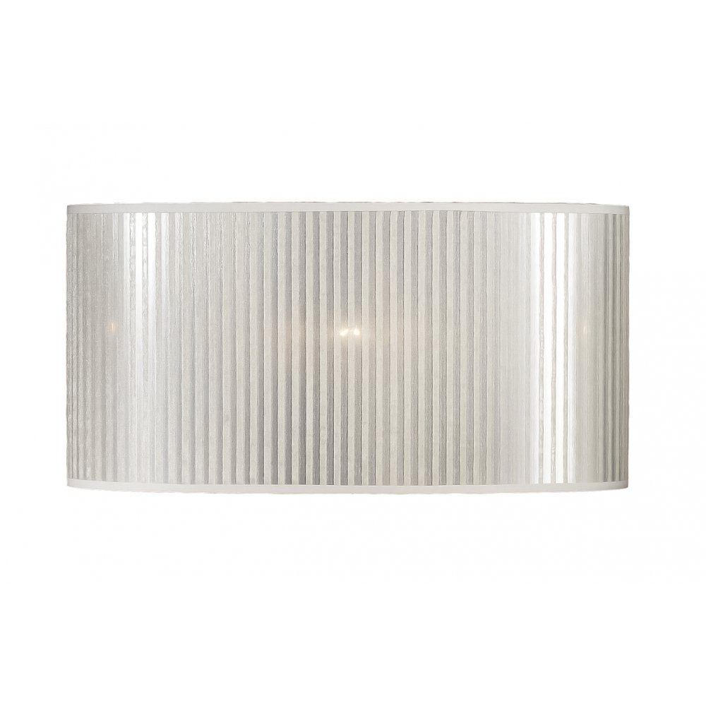 Elstead Lighting Silver Striped Oval Shade 40cm - Elstead Lighting from Lightplan UK