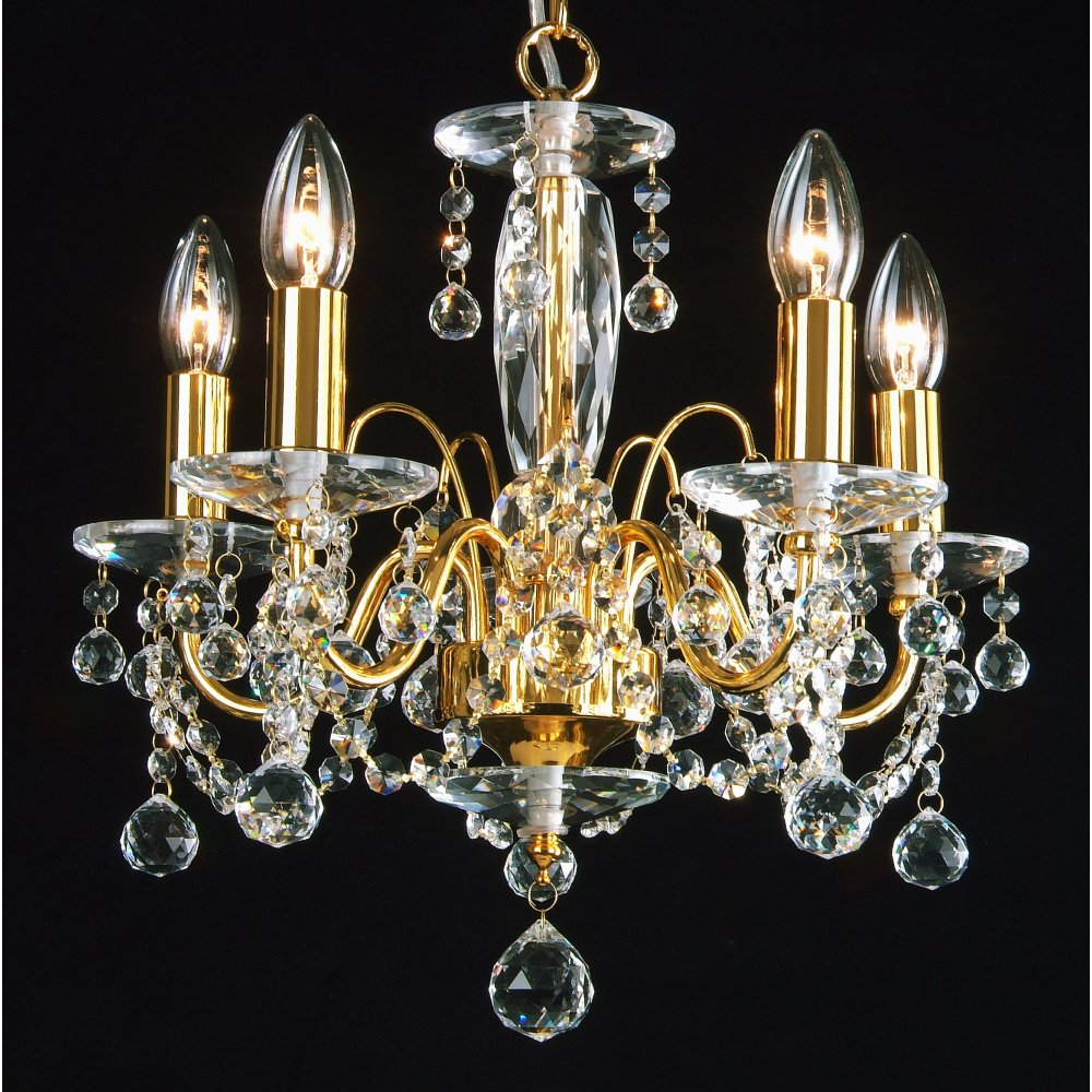 Fantastic Lighting Figaro 4005 Gold Plated With Crystal Ball