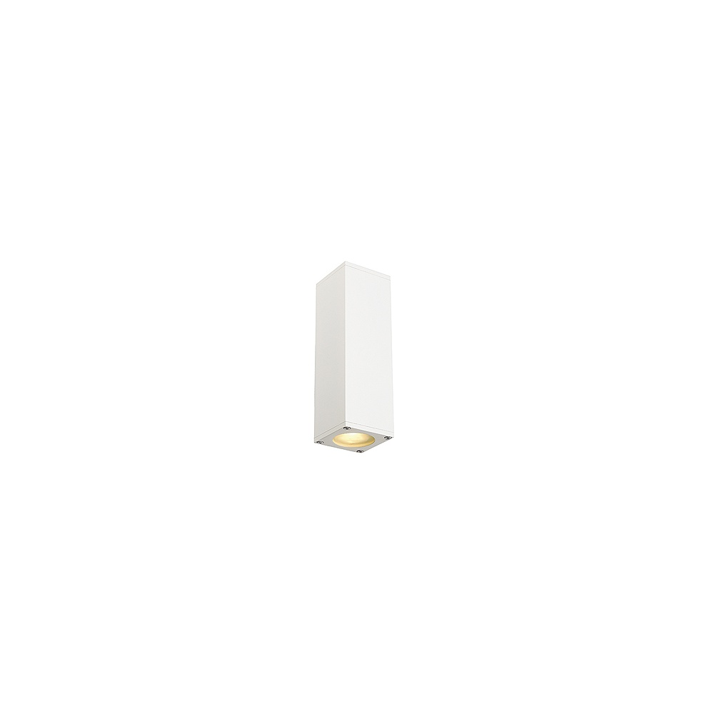 Indoor Wall String Lights : Intalite UK Theo 152081 White Up/Down Square Wall Light - Intalite UK from Lightplan UK