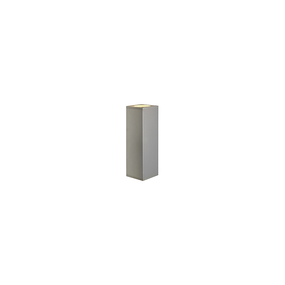 intalite uk theo 152082 silver grey up down square wall light intalite uk from lightplan uk. Black Bedroom Furniture Sets. Home Design Ideas