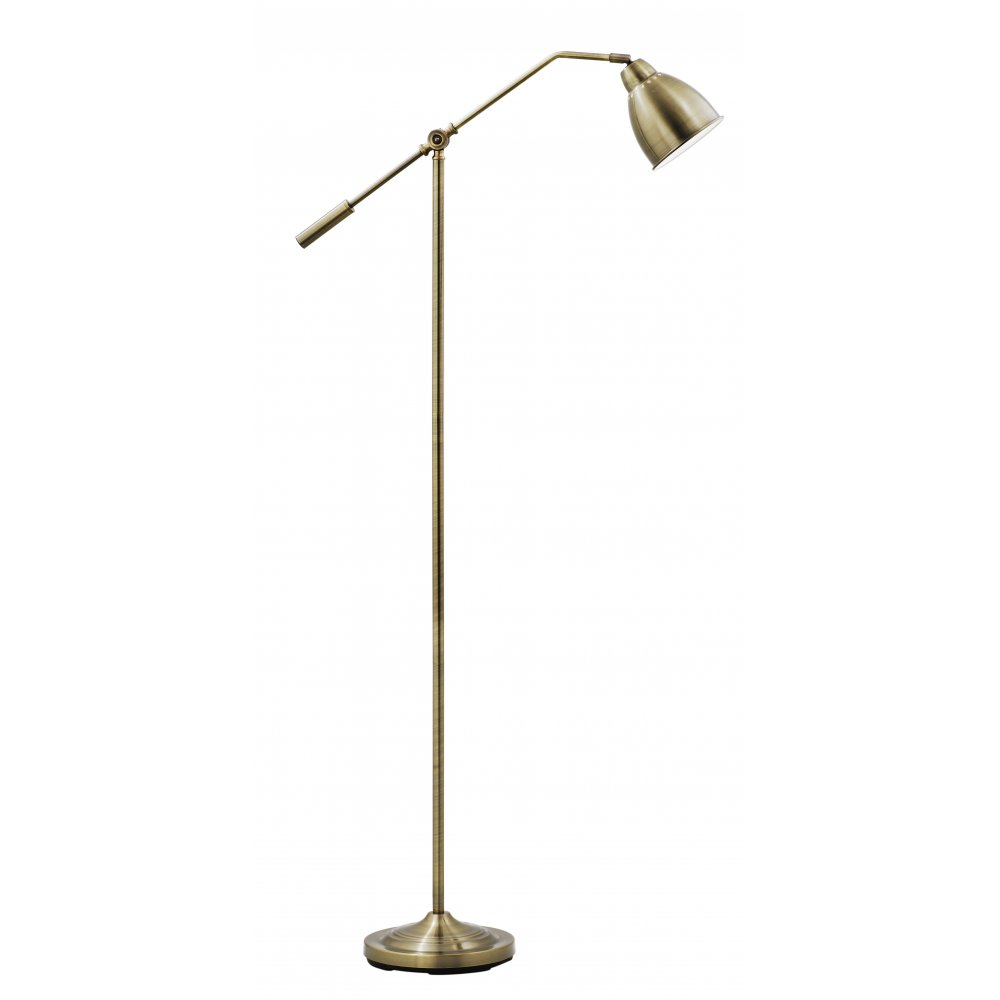 Searchlight electric libra 9359ab antique brass floor lamp for Babyliss floor lamp antique brass