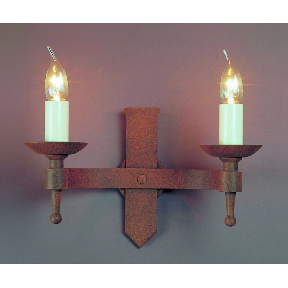 Russell Lowe Wall Lights : Impex Russell SAXON SMRR01072/A Aged Wall Light