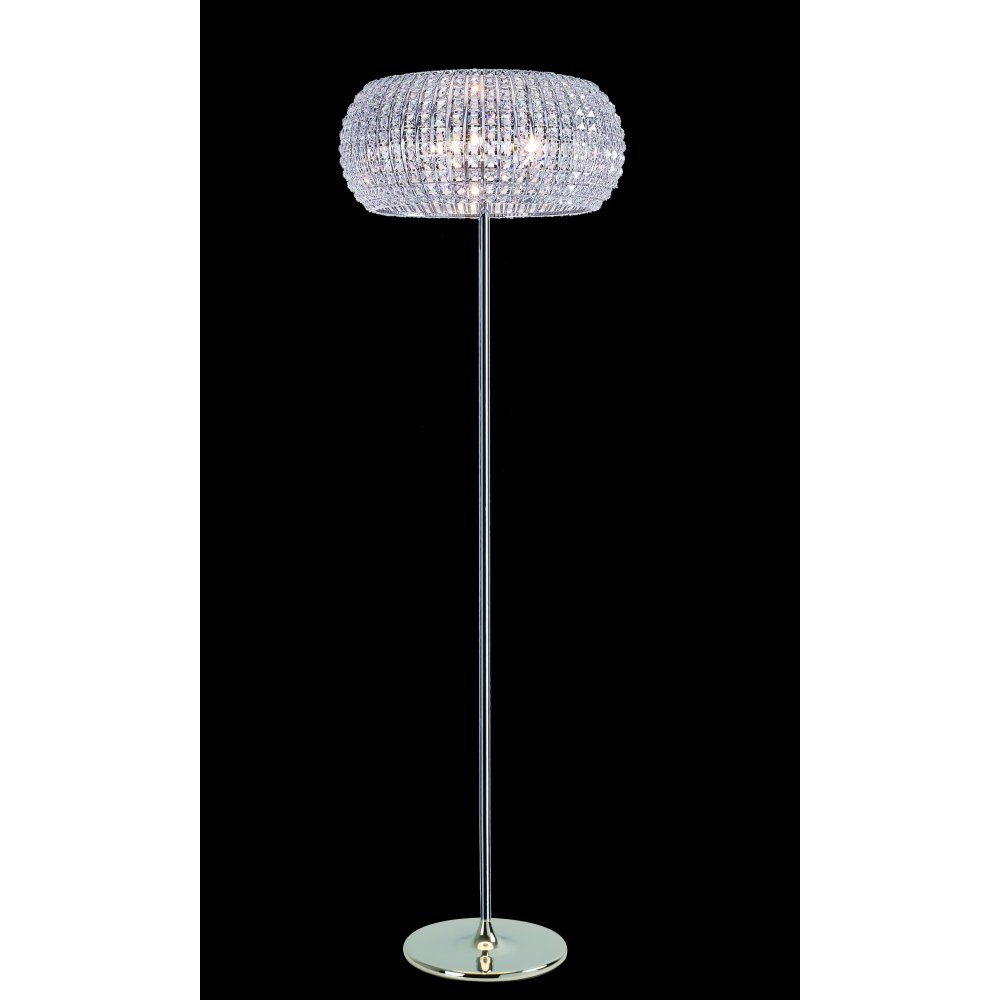 Impex russell rome cfh905262flch polished chrome with crystal impex russell rome cfh905262flch polished chrome with crystal detail floor lamp aloadofball Images