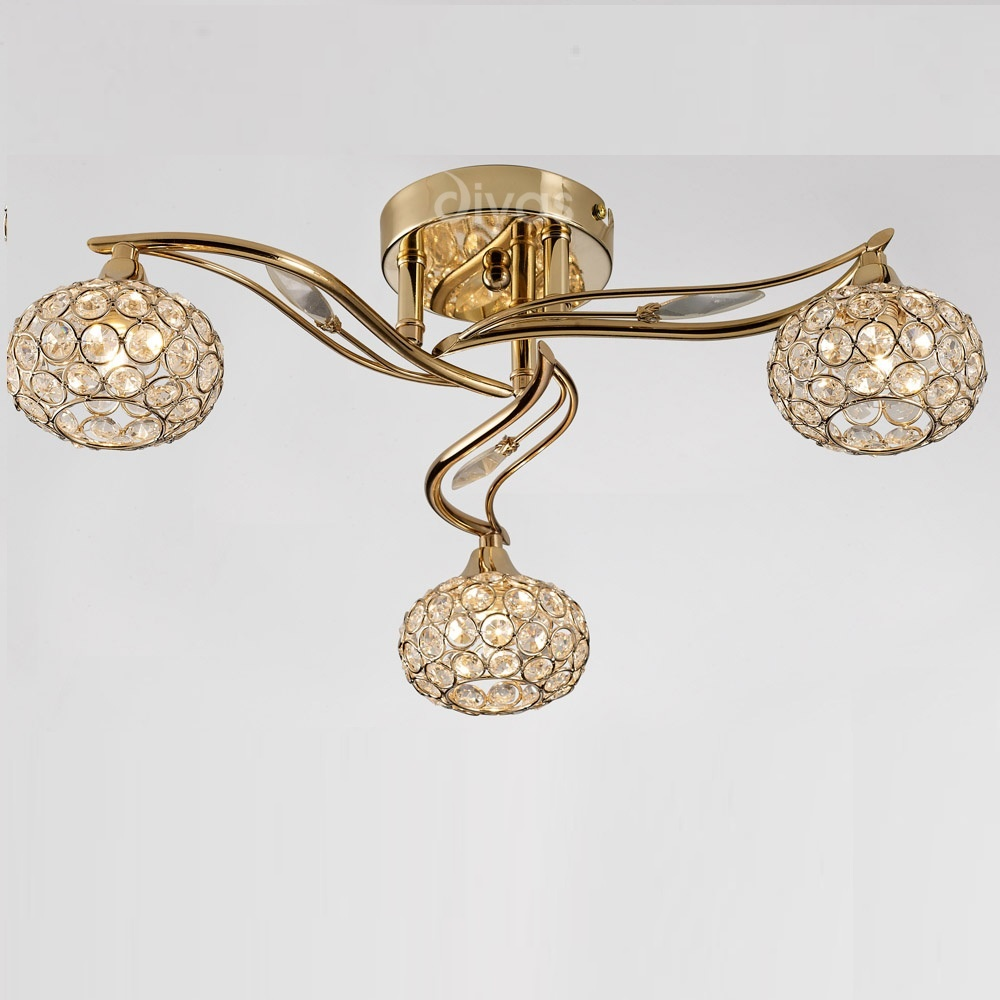 Uk leimo il il30963 french gold crystal three lamp ceiling light diyas uk leimo il il30963 french gold crystal three lamp ceiling light mozeypictures Gallery