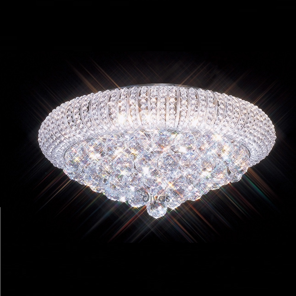 Diyas Uk Iris Il30003 Chrome Crystal 8 Light Flush Ceiling