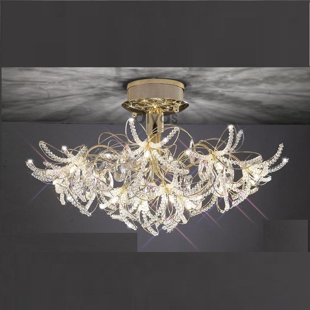 diyas uk kenzo il il30890 gold crystal twenty four light ceiling light