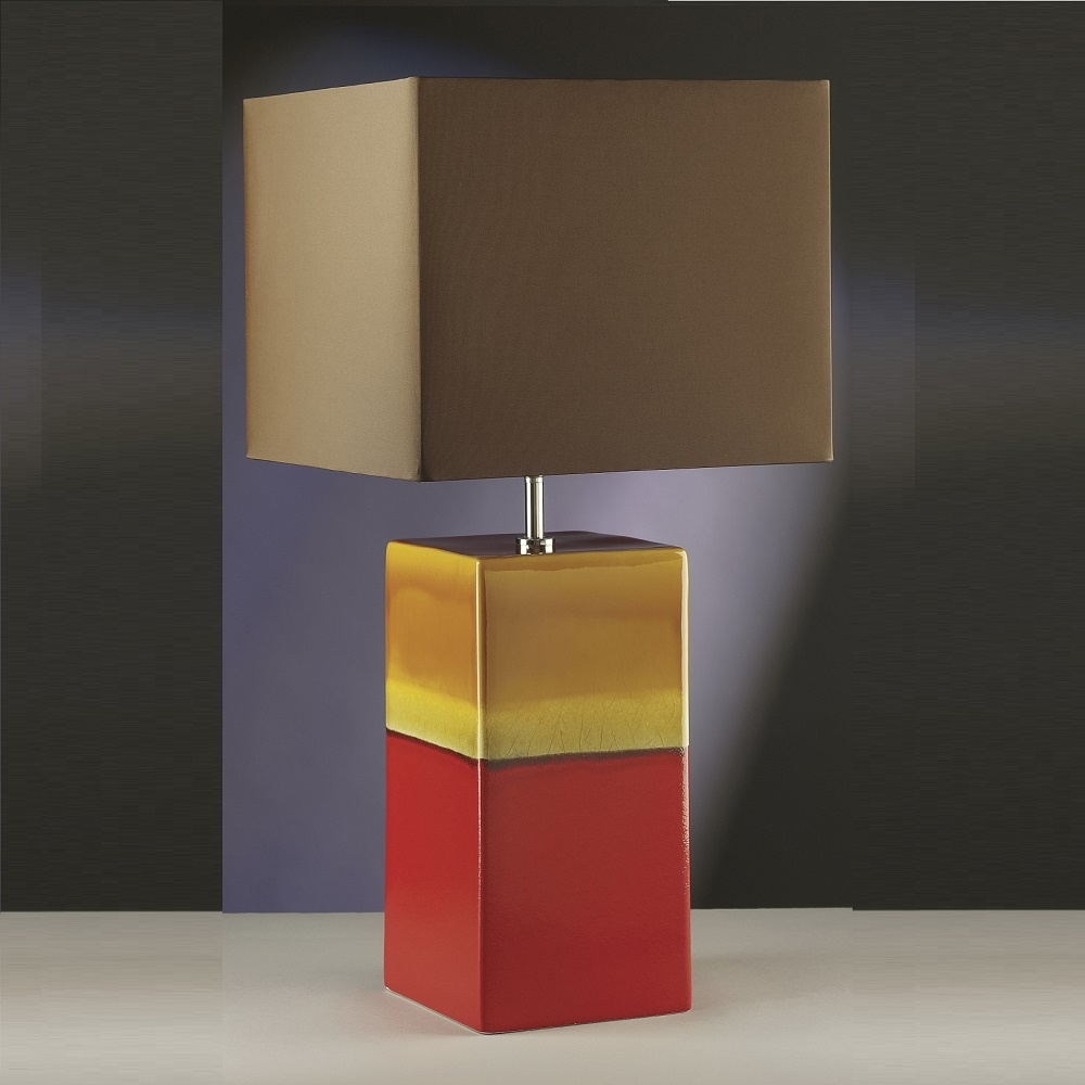 Elstead Lighting Alba Rouge Red Amp Gold Table Lamp
