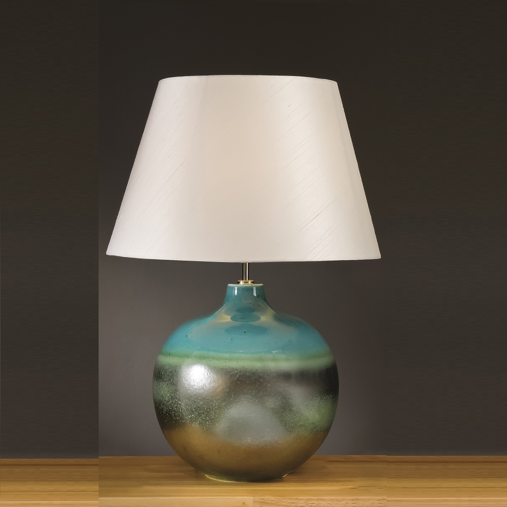 shop in standard lamp way turquoise with lite switch shade fabric pd source table aqua