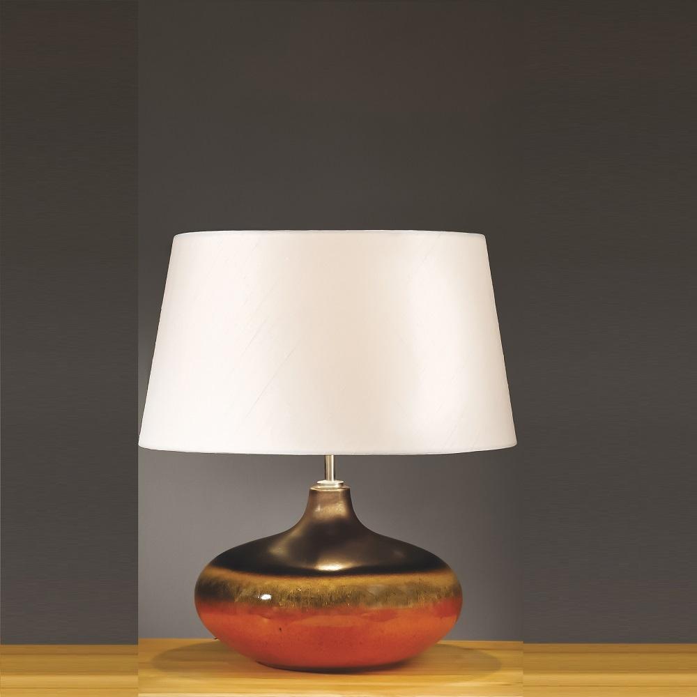 Elstead Lighting Colorado Brown Amp Orange Table Lamp Small