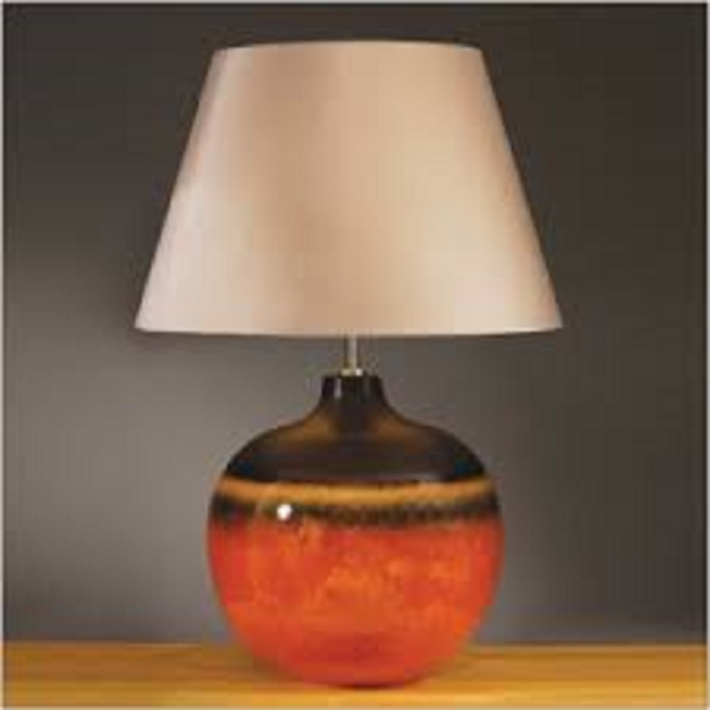 Elstead Lighting Colorado Brown & Orange Table Lamp Large ...