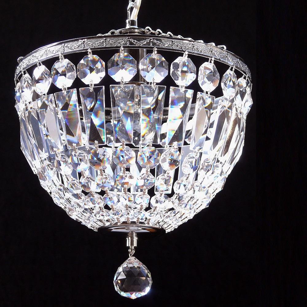 fantastic lighting baguette 172 10 1 chrome crystal trimmings ceiling light. Black Bedroom Furniture Sets. Home Design Ideas