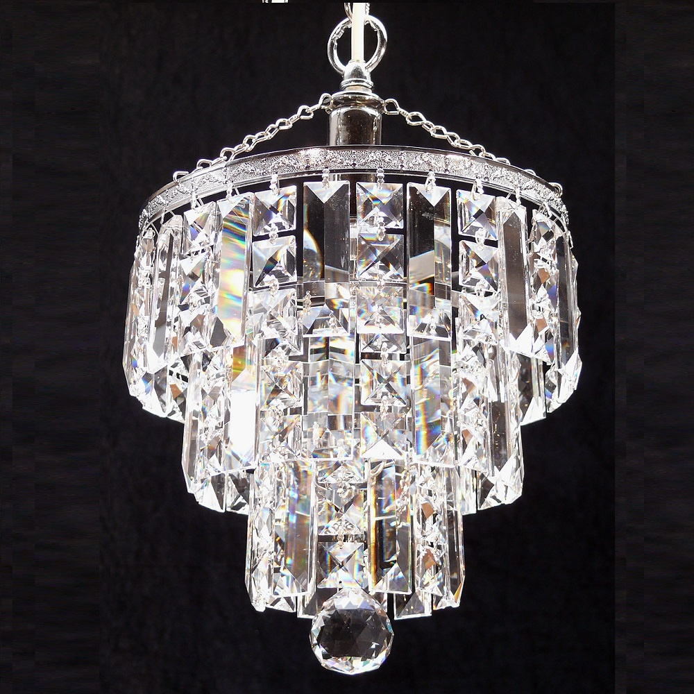 crystal square lozenge trimmings round pendant fantastic lighting