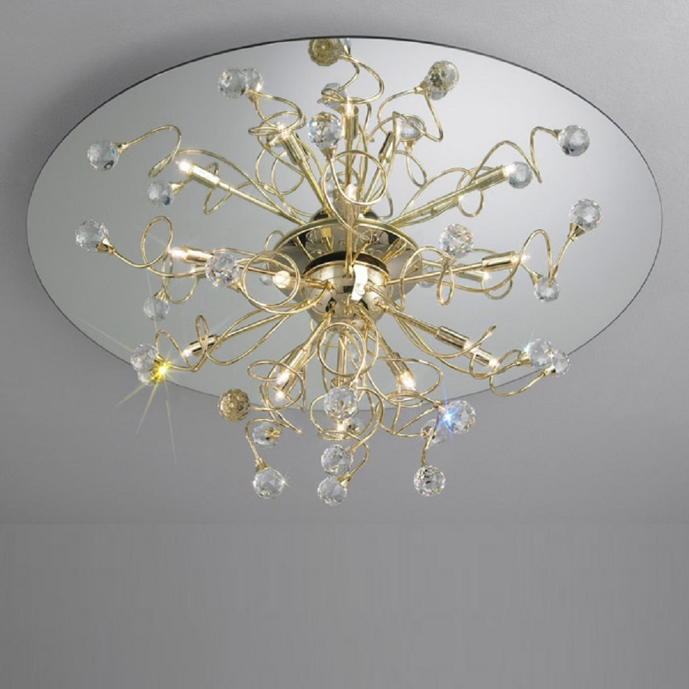 Led Ceiling Lights Gold: Kolarz UK Ltd Polaris 1113.112.3.SPT Gold Ceiling Light