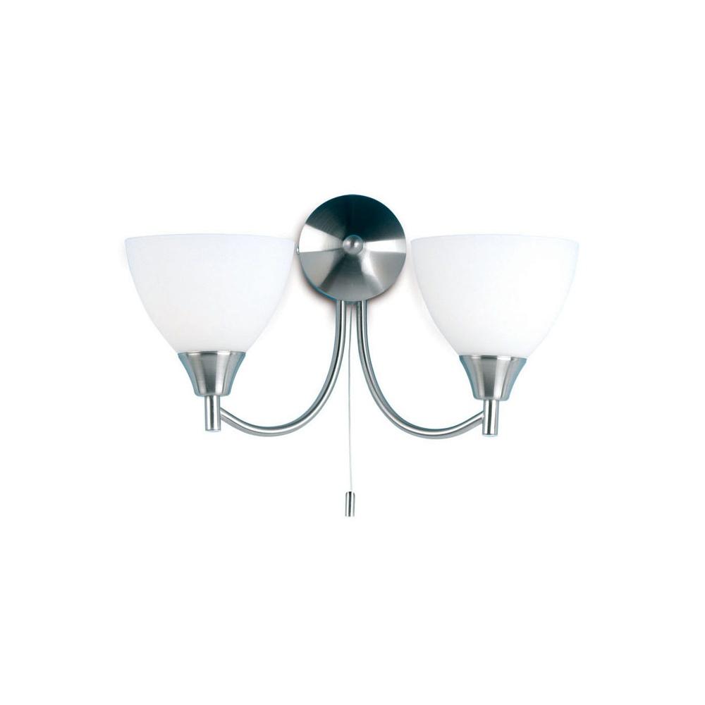 Endon Lighting 1805-2SC Chrome Wall Light Double