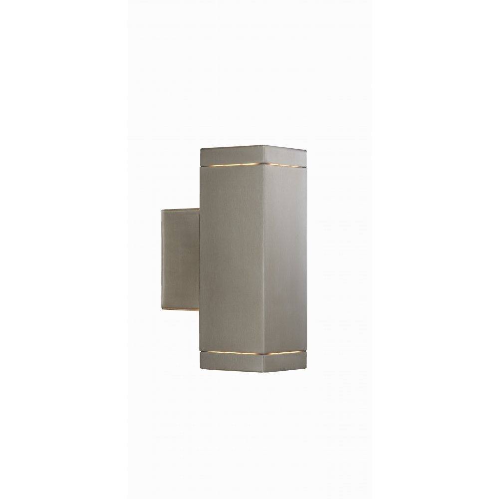 Outside Electric Wall Lights : Searchlight Electric 9008-2SS Outdoor Wall Light Buy at Lightplan
