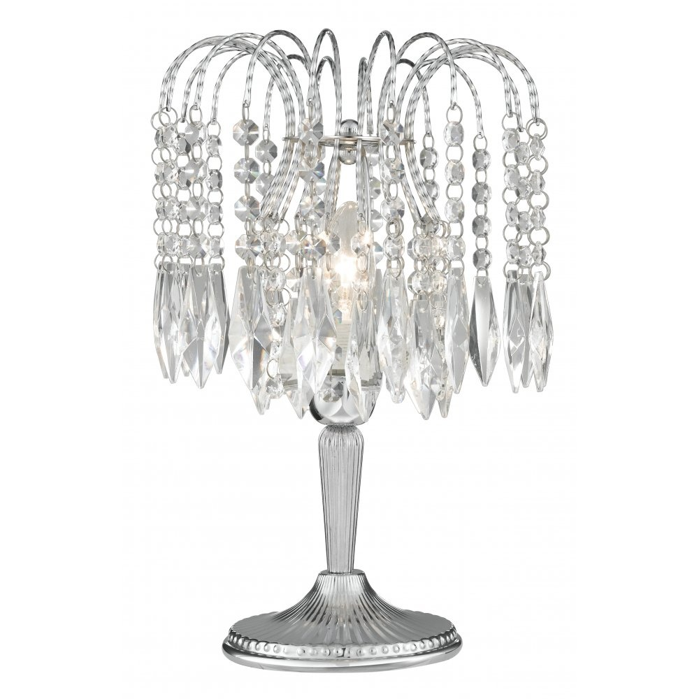searchlight electric waterfall 4171 chrome with crystal