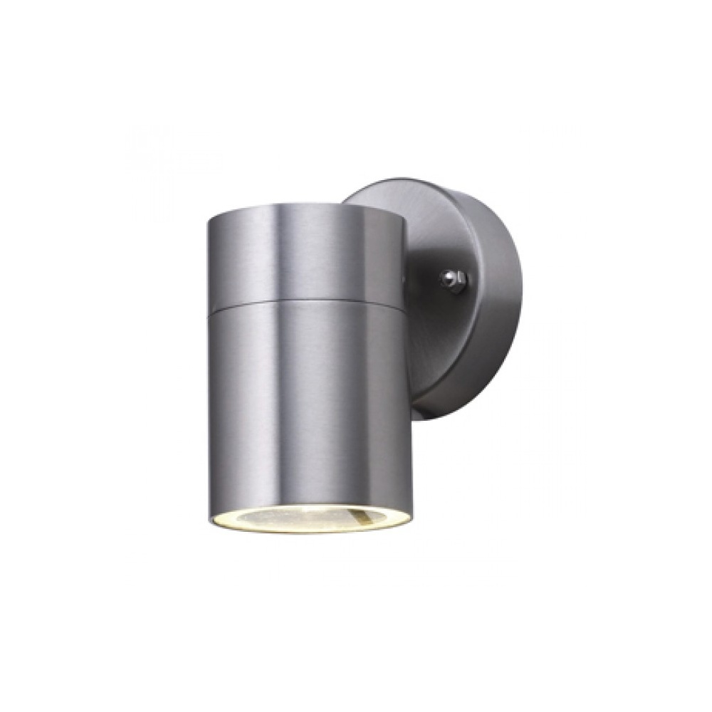 Searchlight electric outdoor 5008 1 wall light buy online at lightplan searchlight electric 5008 1 outdoor stainless steel fixed wall spot light aloadofball Image collections