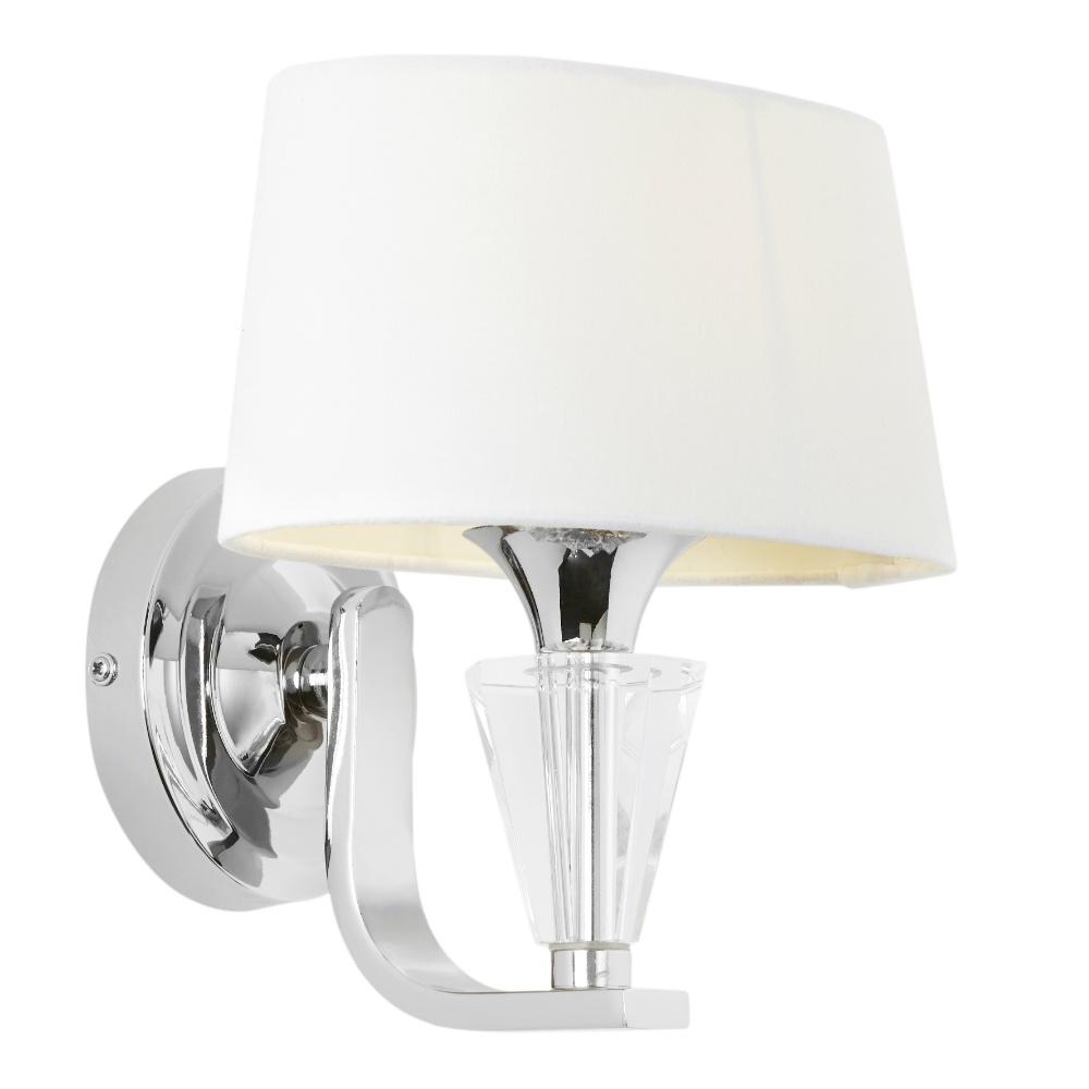Endon Lighting Fiennes FIENNES-1WBNI Silver Wall Light