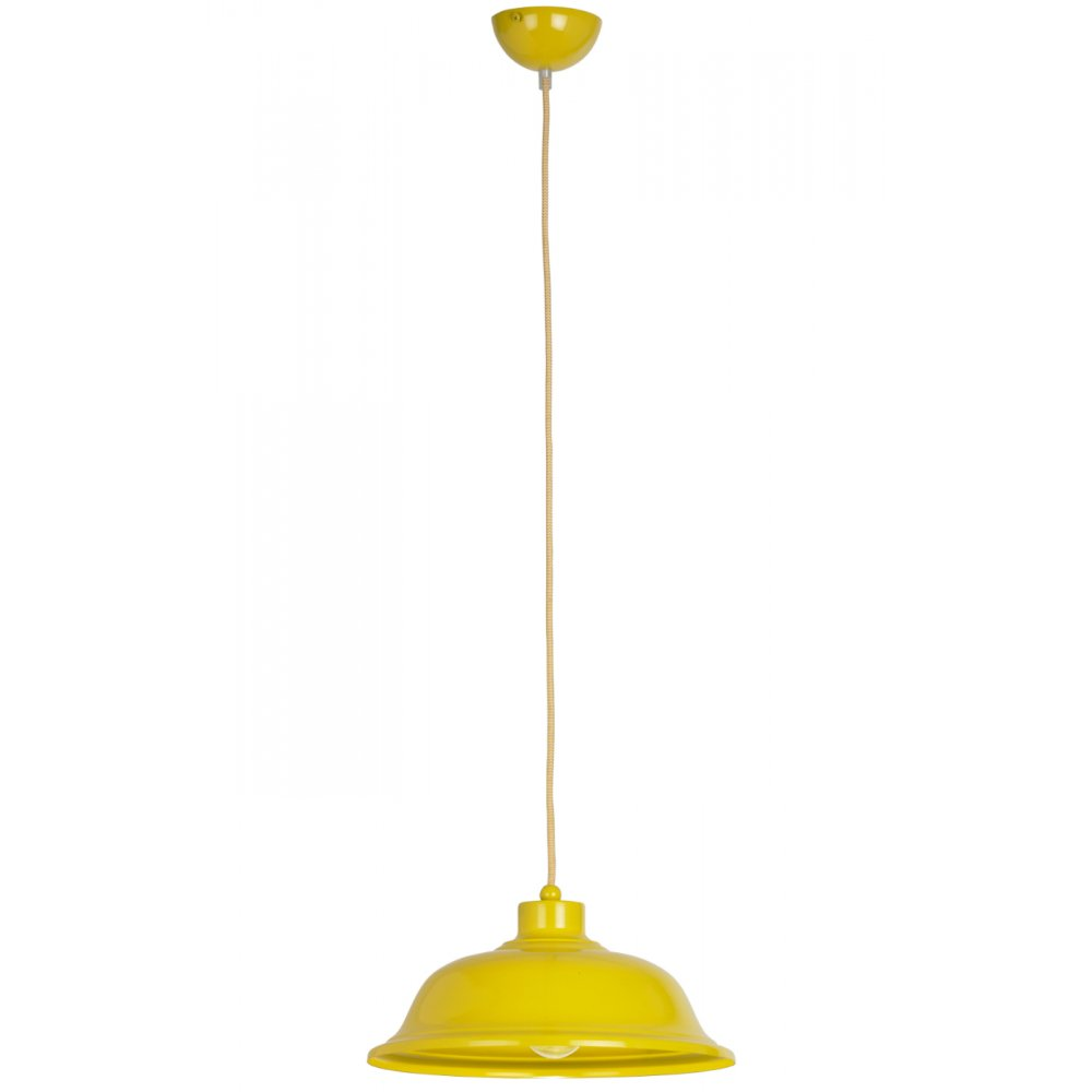 Ceiling Lights Yellow : Endon lighting laughton ye yellow pendant ceiling