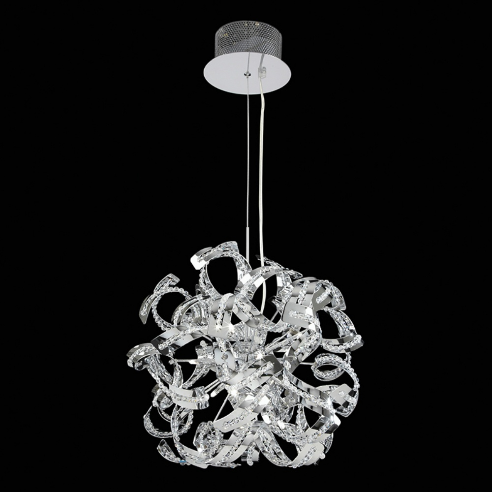 Chrome pendant ceiling lights : Endon lighting twist ch chrome pendant ceiling