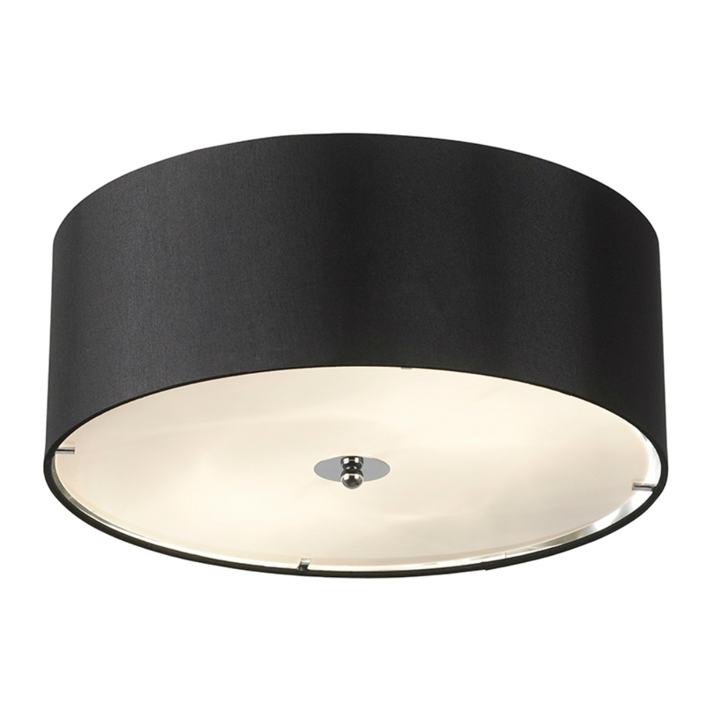 endon lighting franco franco 40bl black semi flush ceiling light