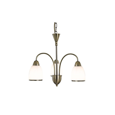 Searchlight electric vase 3283 3ab antique brass and glass ceiling light