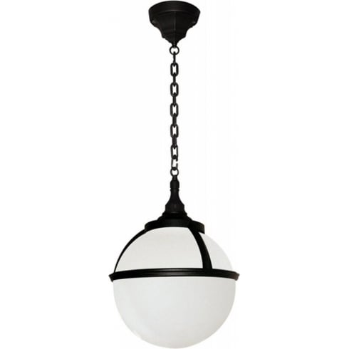 Elstead Lighting Glenbeigh Black & White Outdoor Chain Lantern