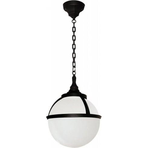 Elstead Lighting Glenbeigh Black & White Outdoor Chain Lantern