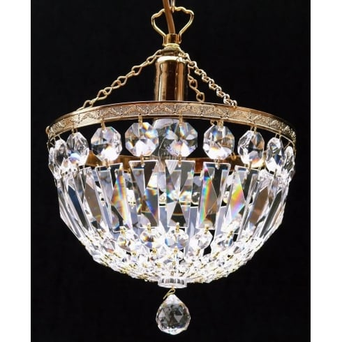 Fantastic Lighting Baguette 171/10/1 Gold Plated Crystal  Trimmings Ceiling Light