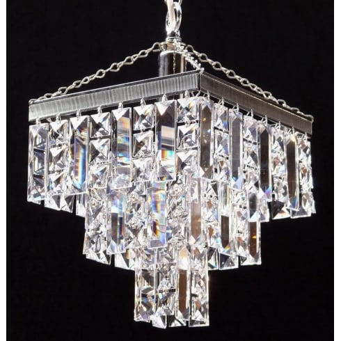 Fantastic Lighting 180/8/1 Tempo 3 Tier Pendant Crystal Square & Lozenge