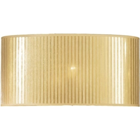 Elstead Lighting Gold Striped Oval Shade 40cm