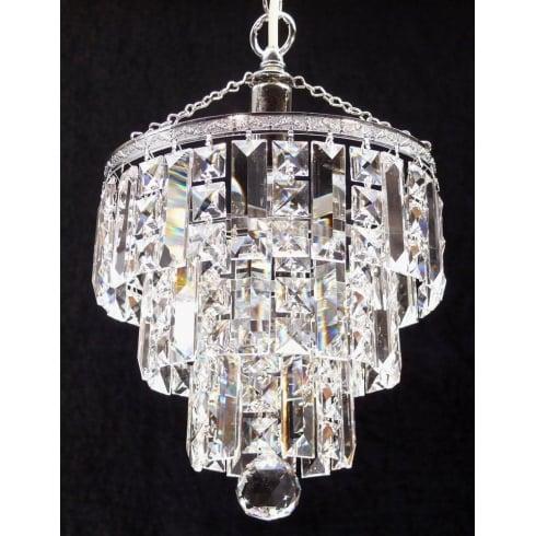 Fantastic Lighting 4 Tier 190/11/3 Crystal Square  & Lozenge Trimmings  Round Pendant