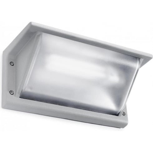 LedsC4 Lighting Curie 05-9408-34-M3 Grey Matt Polycarbonate Glass Wall Light