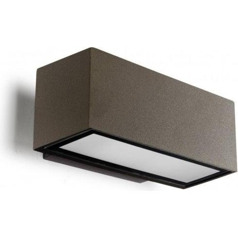 LedsC4 Lighting Afrodita 05-9230-J6-37 Brown Injected Aluminium Matt Glass Wall Light