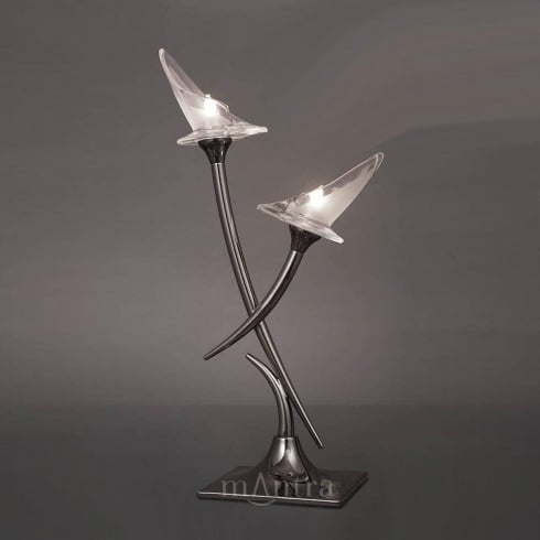 Mantra Spain Flavia M0310 Polished Chrome Twin Light Table Lamp