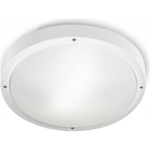 LedsC4 Lighting Opal 15-9677-14-M1 White Polycarbonate & Polycabonate Ceiling Fixture