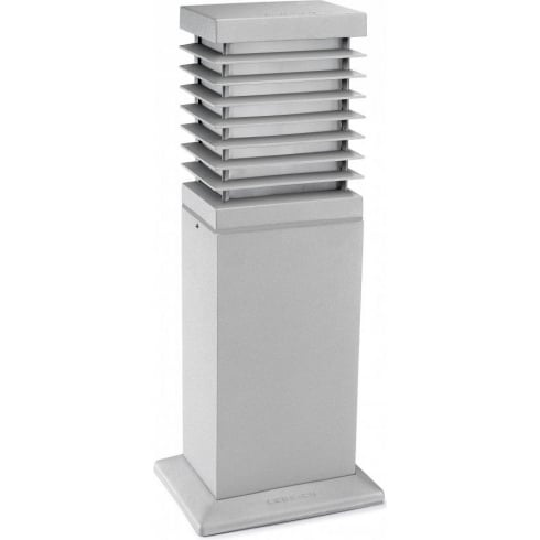 LedsC4 Lighting Nott 55-9358-34-M3  Aluminium Grey Matt PMMA Glass Bollard