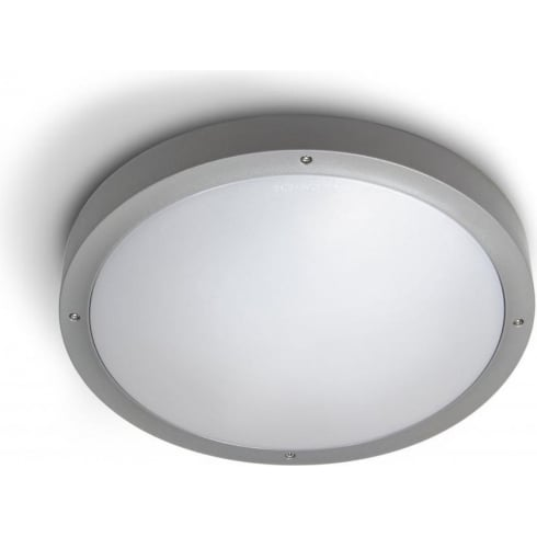 LedsC4 Lighting Basic 15-9542-34-M3 Light Grey ABS Plastic Matt Polycarbonate Diffuser Ceiling Light