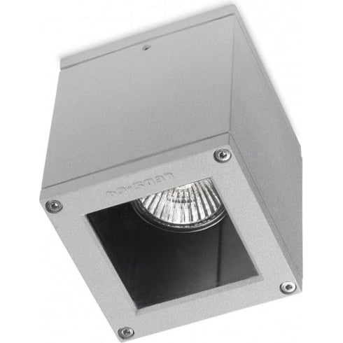 LedsC4 Lighting Afrodita 15-9480-34-37 Grey Aluminium With Transparent Glass Ceiling Light