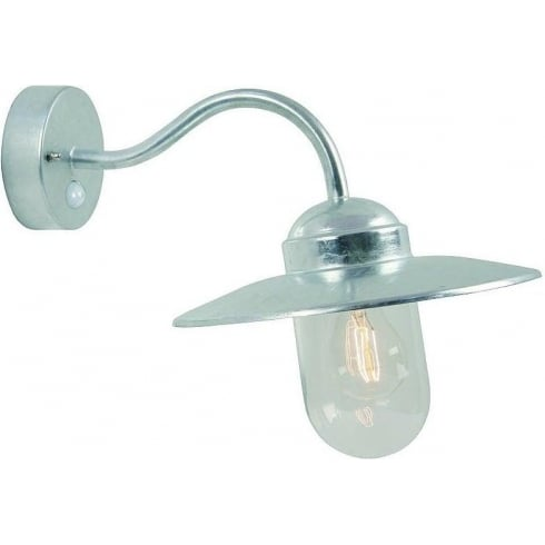 Nordlux Luxembourg 22661031 Galvanized Wall Light With Sensor