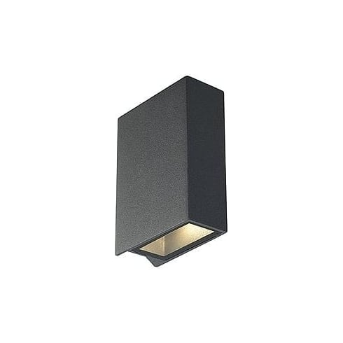 Intalite UK 232475 Quad 2 Square Anthracite LED Warm White Wall Light