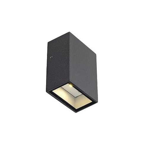 Intalite UK 232465 Quad 1 Square Anthracite LED Warm White Wall Light