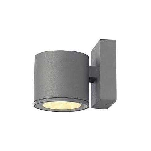 Intalite UK Sitra LED 230332 Silver Grey LED Warm White Wall Light