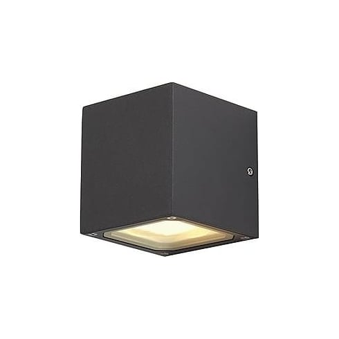 Intalite UK Sitra Cube 232537 Square Rust-Coloured Wall Light